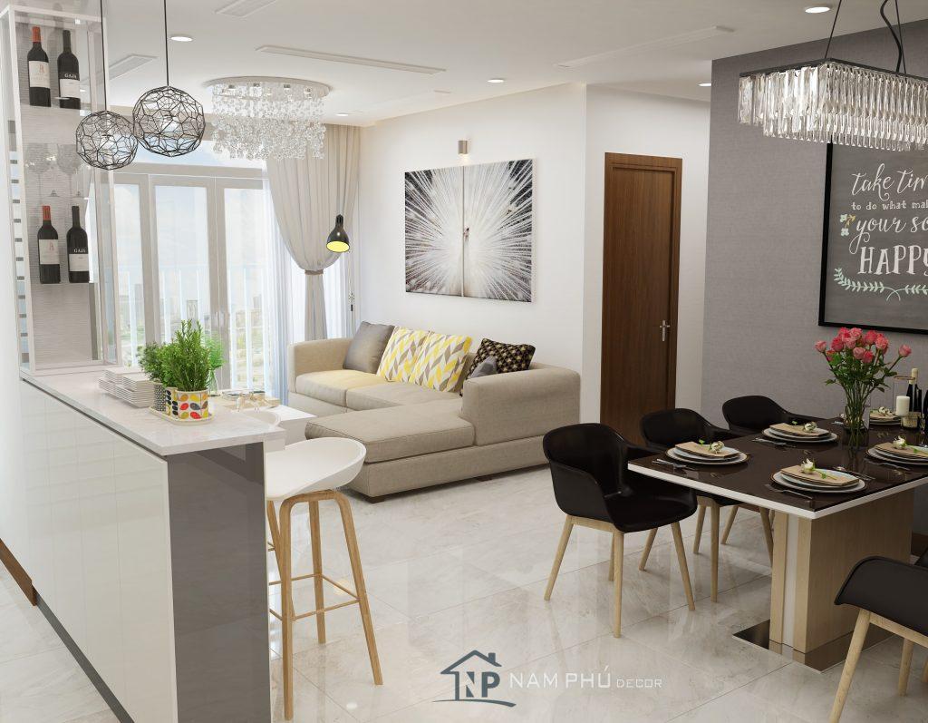 Mẫu thiết kế nội thất căn hộ Hà Đô centrosa -